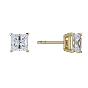 Lumiere 18ct Gold-Plated With Swarovski Zirconia Earrings - Product number 1012797