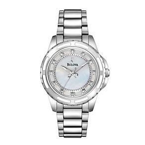 Bulova Ladies' Crystal Stainless Steel Bracelet Watch - Product number 1012991