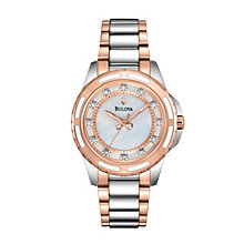 Bulova Ladies' Stainless Steel Two Tone Bracelet Watch - Product number 1013009