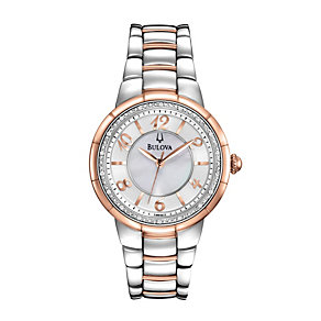 Bulova Ladies's Stainless Steel Two Tone Bracelet Watch - Product number 1013025