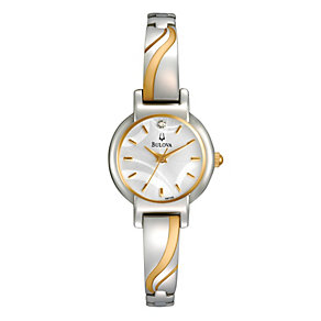 Bulova Ladies' Stainless Steel Two Tone Bracelet Watch - Product number 1013068