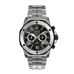 Bulova Black Dial Stainless Steel Bracelet Watch - Product number 1013084