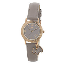 Radley Ladies' Rose Gold-Plated Grey Leather Strap Watch - Product number 1013246