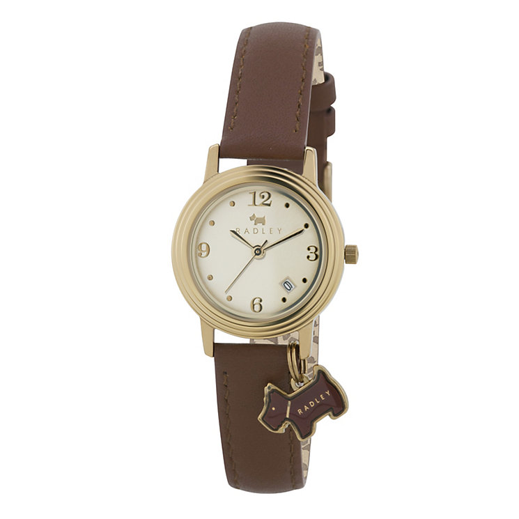 Radley Ladies' Gold-Plated Tan Leather Strap Watch - Product number 1013254