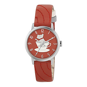 Radley Ladies' Stainless Steel Red Leather Strap Watch - Product number 1013297