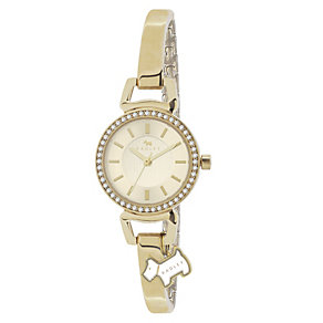 Radley Ladies' Dog Charm Gold-Plated Half Bangle Watch - Product number 1013475