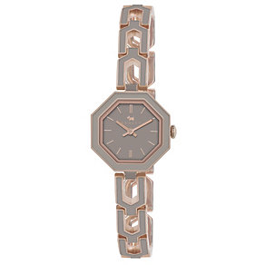 Radley Ladies' Rose Gold-Plated Grey Angled Bracelet Watch - Product number 1013505