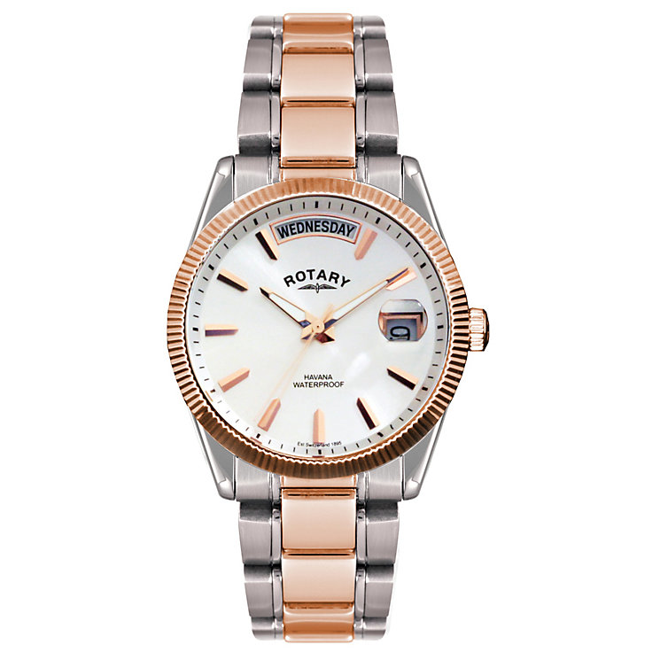 Rotary Men's Two Colour Bracelet Watch - Product number 1013564