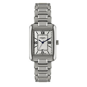 Rotary Men's White Dial Stainless Steel Bracelet Watch - Product number 1013602