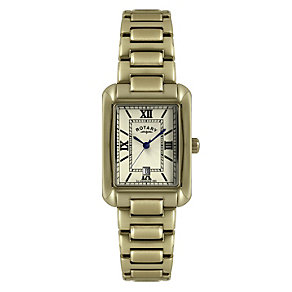 Rotary Champagne Dial Gold-Plated Bracelet Watch - Product number 1013610