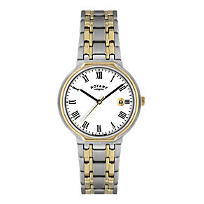 Rotary Men's Two Colour Bracelet Watch - Product number 1013661