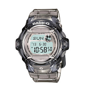 Casio Baby-G Ladies' Grey Rubber Strap Watch - Product number 1014129