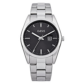 Oasis Ladies' Black Dial Alloy Bracelet Watch - Product number 1014390