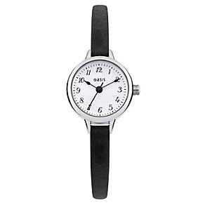 Oasis Ladies' Alloy Black Leather Strap Watch - Product number 1014412
