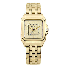 Oasis Ladies' Stainless Steel Alloy Gold Tone Bracelet Watch - Product number 1014463