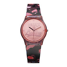 Paul's Boutique Ladies' Red Strap Watch - Product number 1014560