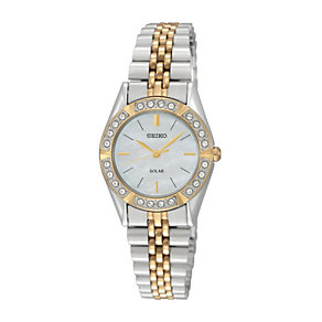 Seiko Ladies' Crystal Two Tone Bracelet Watch - Product number 1014781