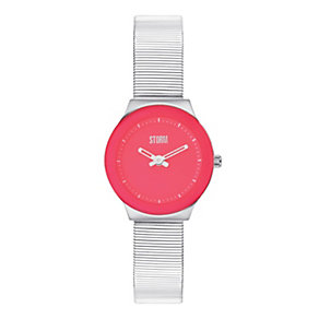 Storm Ladies' Wild Red Stainless Steel Mesh Strap Watch - Product number 1014935