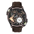 Storm Men's Black Stainless Steel Brown Strap Watch - Product number 1015028