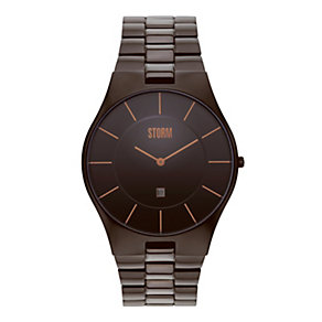 Storm Men's Slim X XL Brown Ion-Plated Bracelet Watch - Product number 1015044