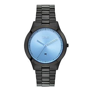 Storm Men's Blue Dial Black Ion-Plated Bracelet Watch - Product number 1015060