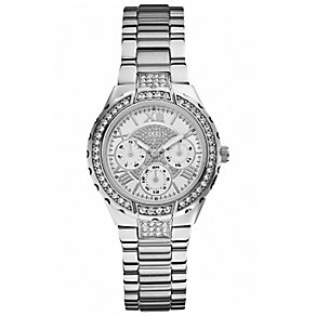 Guess Ladies' Silver & Crystal Bracelet Watch - Product number 1015176