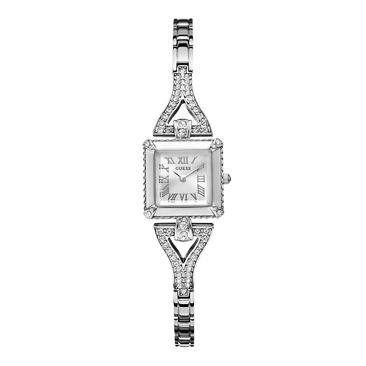 Guess Ladies' Crystal Set Stainless Steel Bracelet Watch - Product number 1015184