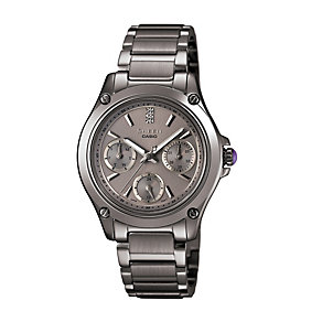 Casio Sheen Ladies' Grey Stainless Steel Bracelet Watch - Product number 1015354