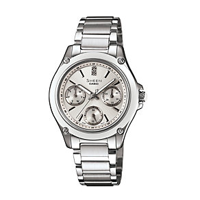 Casio Sheen Ladies' Stainless Steel Bracelet Watch - Product number 1015362