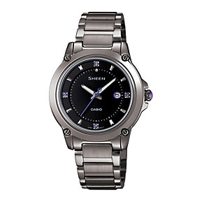 Casio Sheen Ladies' Grey Stainless Steel Bracelet Watch - Product number 1015389