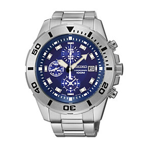 Seiko Men's Blue Dial Stainless Steel Bracelet Watch - Product number 1015737