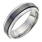 Tungsten & ceramic men's band ring - Product number 1016695