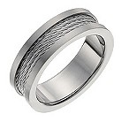 Titanium men's cable band ring - Product number 1017098