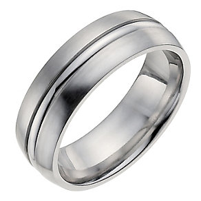 Cobalt men's groove ring - Product number 1017632