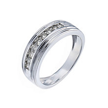 9ct white gold half carat diamond band ring - Product number 1018310
