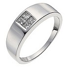 9ct white gold princess cut 45 point diamond ring - Product number 1018450