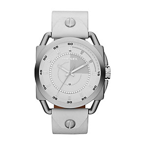 Diesel Men's Descender White Leather Strap Watch - Product number 1021524