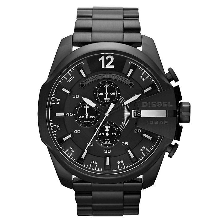 Diesel Mens Mega Chief Black Dial & Bracelet Watch - Product number 1021559