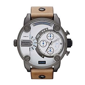 Men's Diesel Tan Leather Strap Watch - Product number 1021575