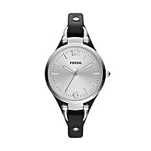 Fossil Ladies' Black Leather Strap Watch - Product number 1021710