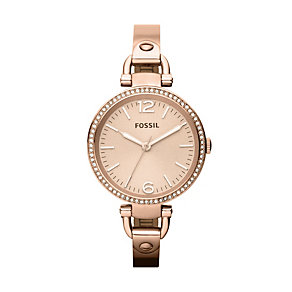 Fossil Georgia Ladies' Rose Gold-Plated Bracelet Watch - Product number 1021737