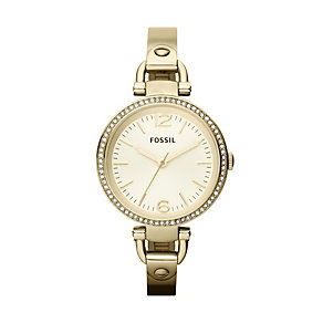 Fossil Georgia Ladies' Gold-Plated Bracelet Watch - Product number 1021745