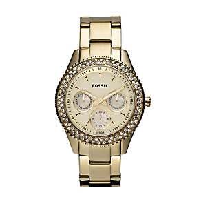 Fossil Stella ladies' Gold-Plated Bracelet Watch - Product number 1021761