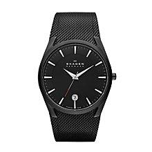 Skagen Men's Titanium Black Strap Watch - Product number 1021877