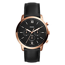 Fossil Neutra Chrono Men's Black Leather Strap Watch - Product number 1023039