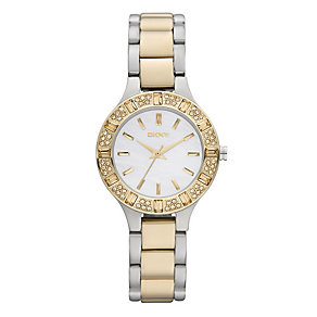 Dkny Ladies' Stone Set Two Colour Bracelet Watch - Product number 1025457