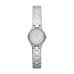DKNY Mini ladies' stainless steel stone set bracelet watch - Product number 1025597