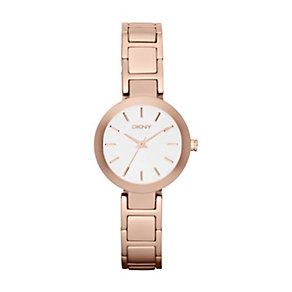 DKNY ladies' white dial rose gold-plated bracelet watch - Product number 1025783