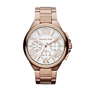 Michael Kors Camille ladies' rose gold-plated bracelet watch - Product number 1026186