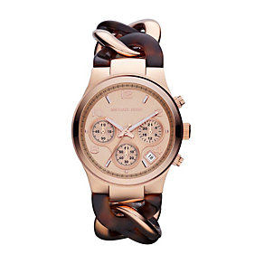 Michael Kors ladies' tortoiseshell effect bracelet watch - Product number 1026208